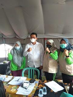 Bupati Muhammad Fadhil Arief SE Pantau Pelaksanaan Vaksinasi di Kecamatan Maro Sebo Ilir