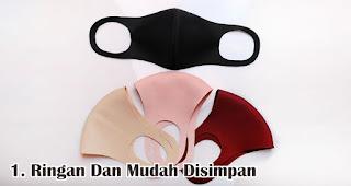 Ringan Dan Mudah Disimpan merupakan keuntungan menjadikan masker sebagai souvenir
