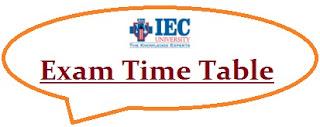 IEC University Exam Date Sheet 2020