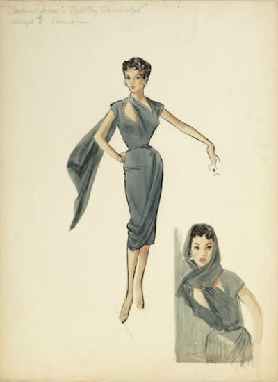Mary Ann Nyberg Costume Design Sketch for Dorothy Dandridge in Carmen Jones