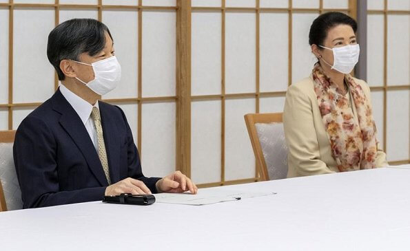 Emperor Naruhito and Empress Masako were briefed by Bank of Japan Governor Haruhiko Kuroda on the pandemic's economic and financial impact