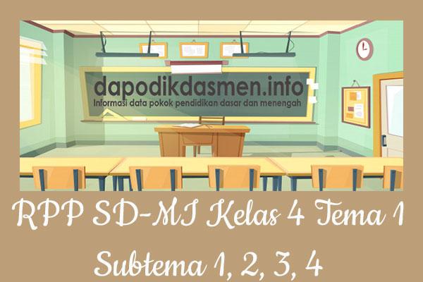 RPP Tematik SD/MI Kelas 4 Tema 1 Subtema 1 2 3 4 Semester 1, Download RPP Kelas 4 Tema 1 Subtema 1 2 3 4 Kurikulum 2013 SD/MI Revisi Terbaru, RPP Silabus Tematik Kelas 4