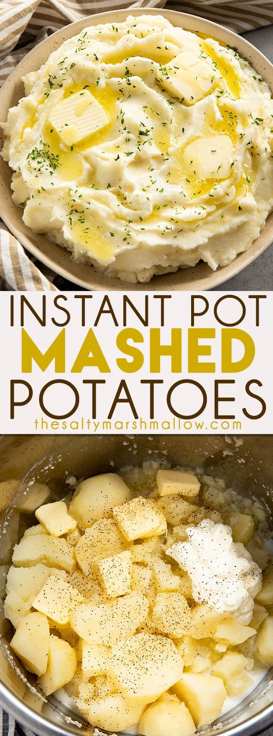 Instant Pot Mashed Potatoes are rich and creamy and so easy to make! Making mashed potatoes has never been quicker or tasted better than these Instant Pot mashed potatoes ready in 20 minutes!