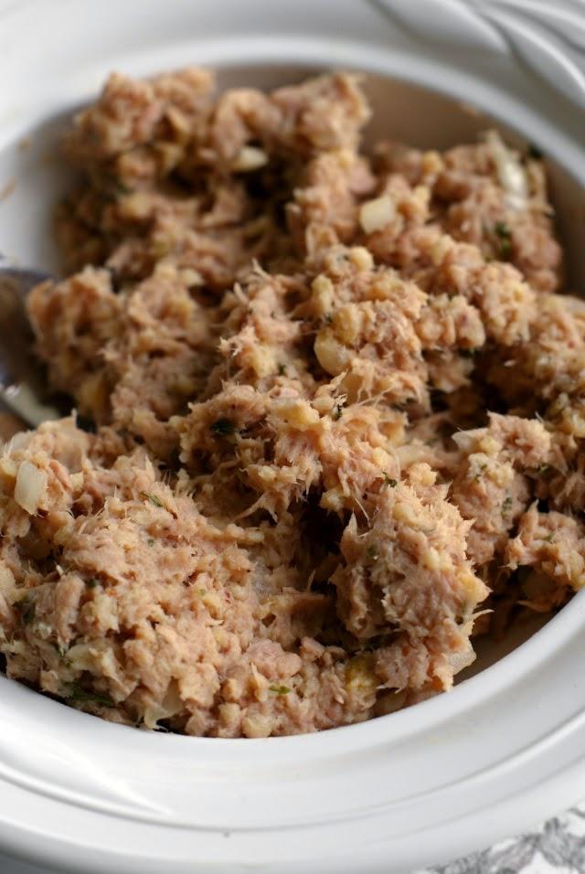Tuna Cakes with Yogurt Tartar Slaw from The Two Bite Club