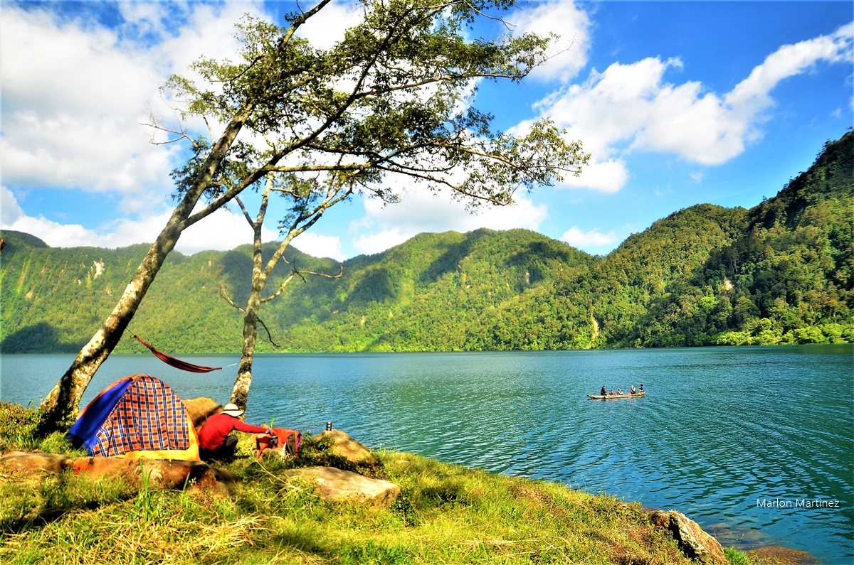 "Shown is Lake Holon, the ""Crown  Jewel of the South"", and one of Tboli town's main tourist attractions."