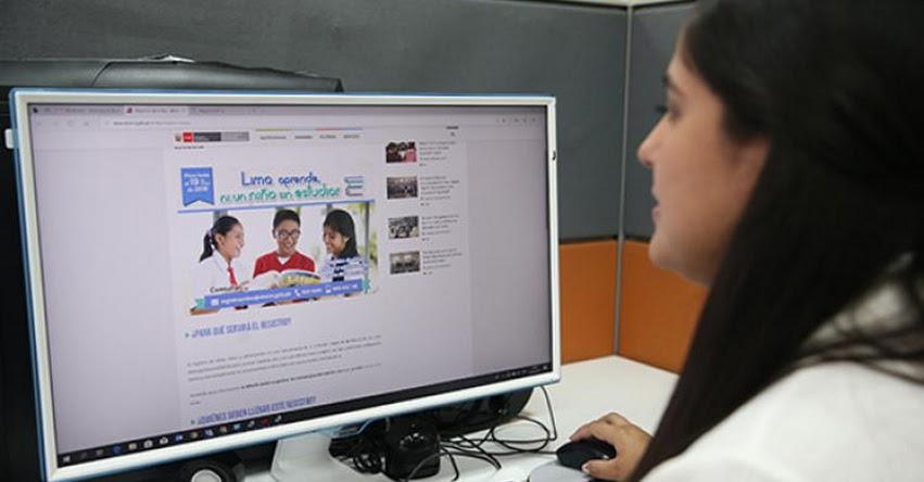 DRELM registrará a menores de Lima Metropolitana que no están matriculados