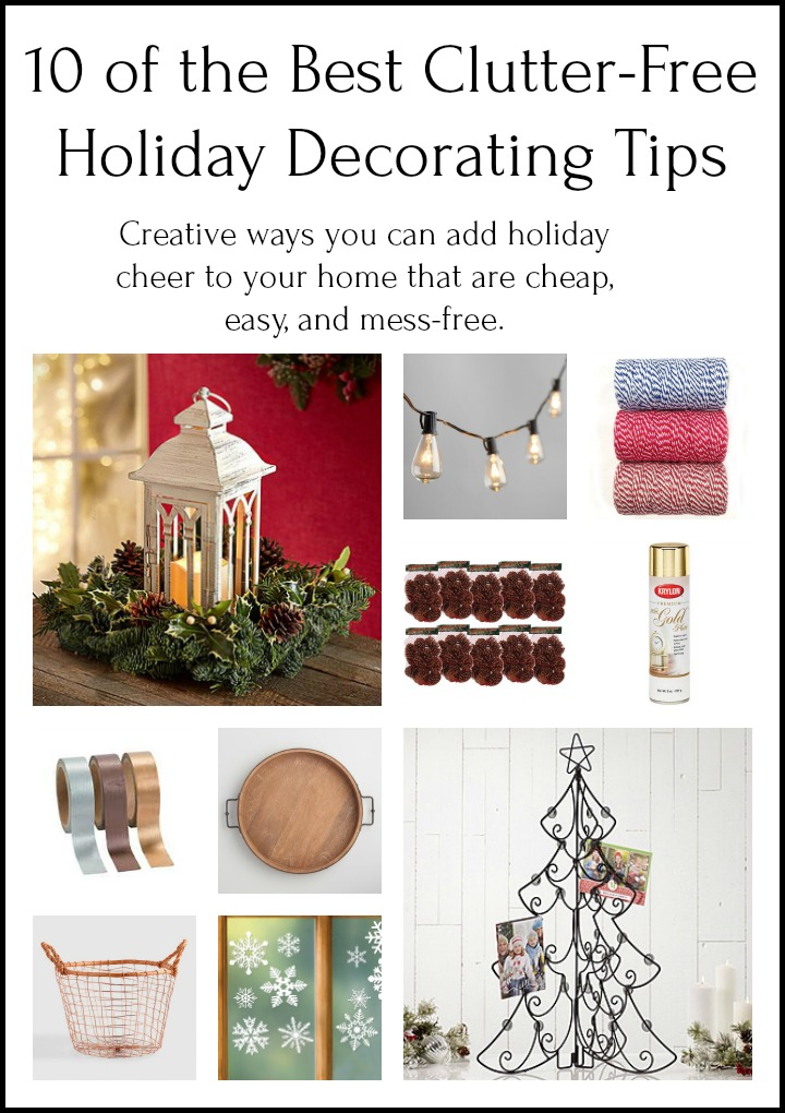 clutter free Holiday decorating tips