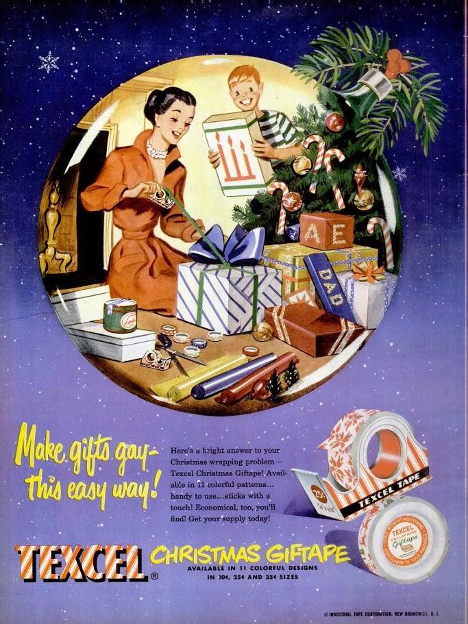 100% Quality 1949 Texcel Christmas Giftape Christmas Magazine Advertisement 1940-49