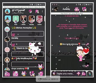 Hello Kitty Theme For YOWhatsApp & KM WhatsApp By Thania