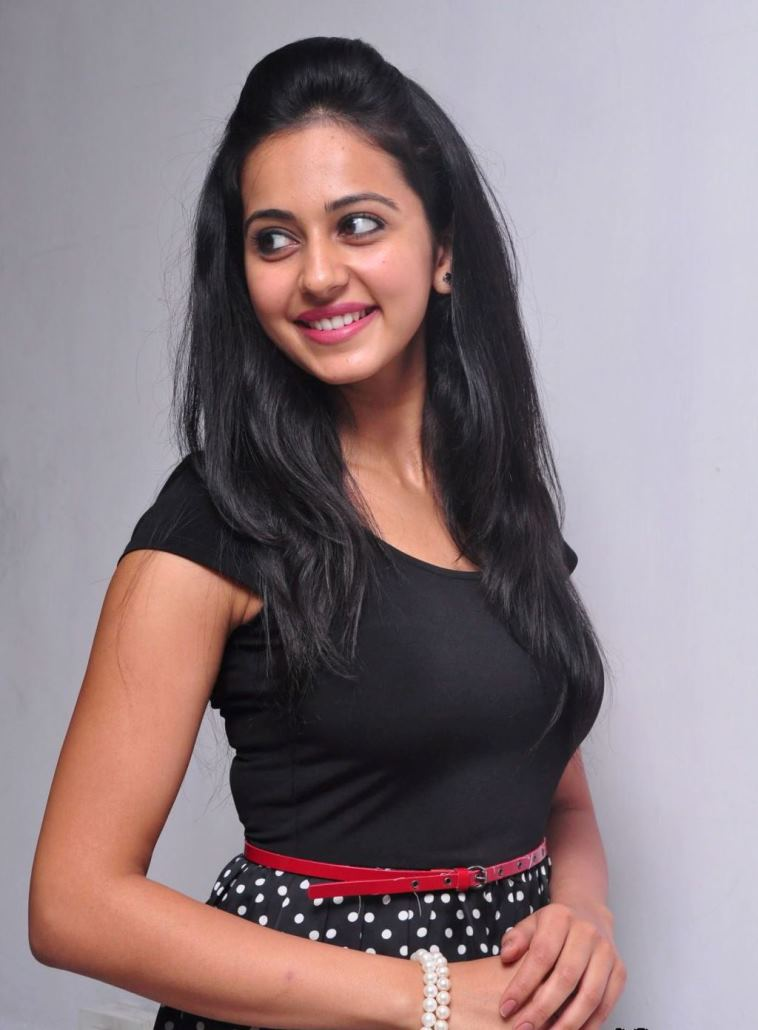 Rakul Preet Singh Hot Stills In Black Dress