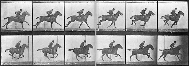 La imagen más famosa del daguerrotipo, distintas fotografías que pasadas a la vez, dan sensación de movimiento