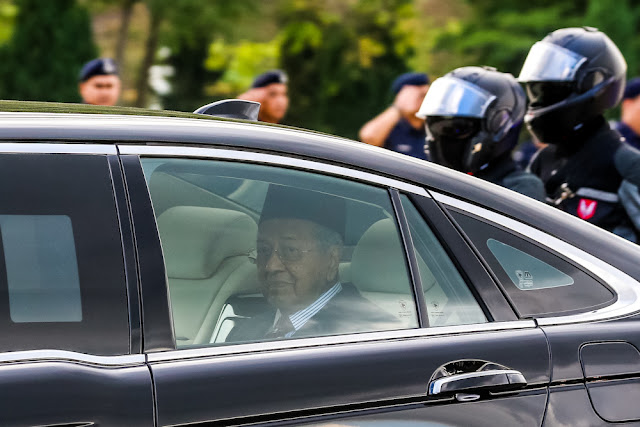 Image Attribute: Tun Dr. Mahathir Mohamad leaves Istana Negara February 24, 2020, /  Source: Firdaus Latif