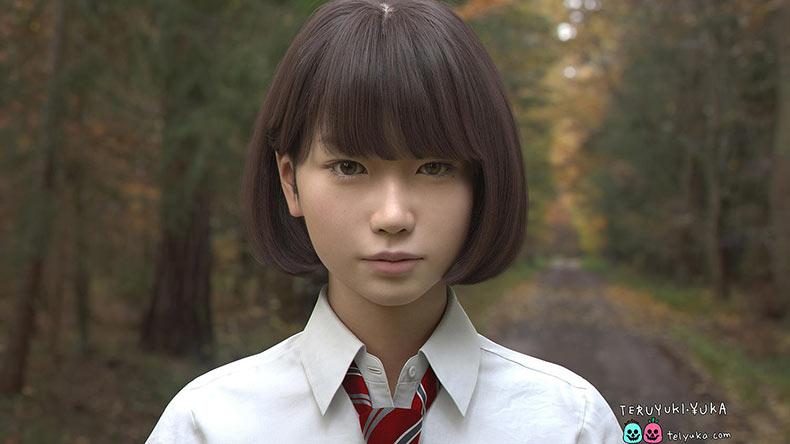 Conoce a Saya, una ultra realista colegiala japonesa generada por ordenador