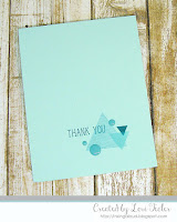Triangle Thank You card-designed by Lori Tecler/Inking Aloud-stamps from Altenew