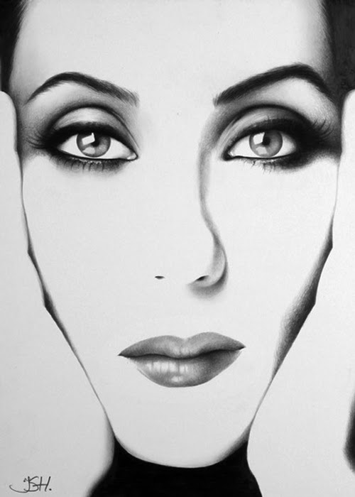 07-Cher-Ileana-Hunter-Recognise-Portrait-Drawings-Detail-www-designstack-co
