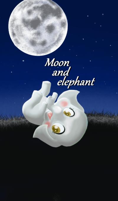 Moon and elephant