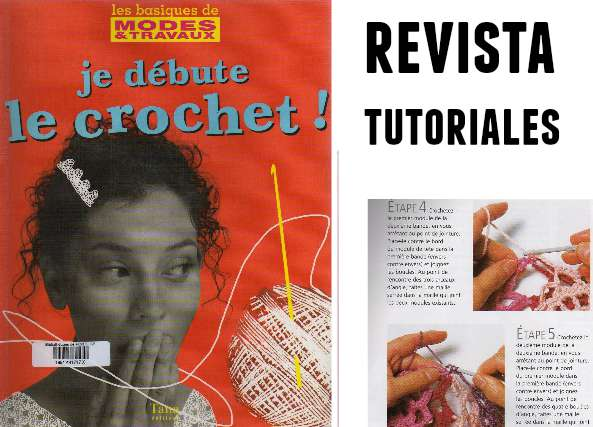 Aprendiendo Crochet revista con tutoriales