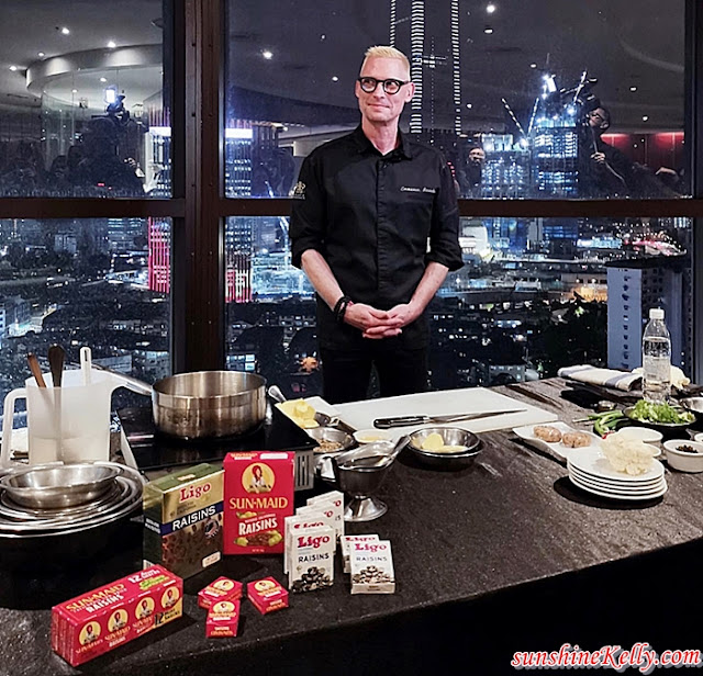 An Evening with California Raisins, Chef Emmanuel Stroobant, Chef Erich Anton Roos, California Raisins, Samplings On the Fourteen, Berjaya University College, Food,