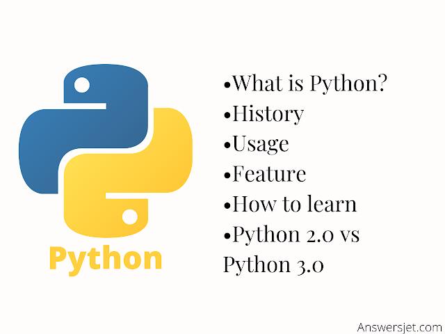 Python Programming language: Usage, Features, Python 2 Vs Python 3