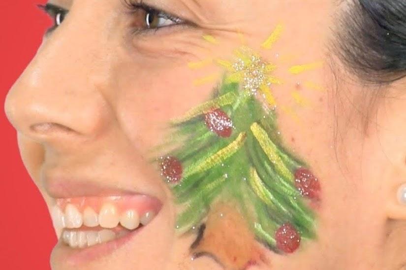 Maquillaje de árbol de Navidad