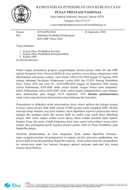 surat pengunduran jadwal ksn smp tingkat kabupaten kota tahun 2020 tomatalikuang.com