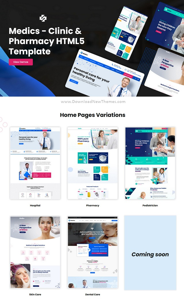 Clinic and Pharmacy HTML5 Template