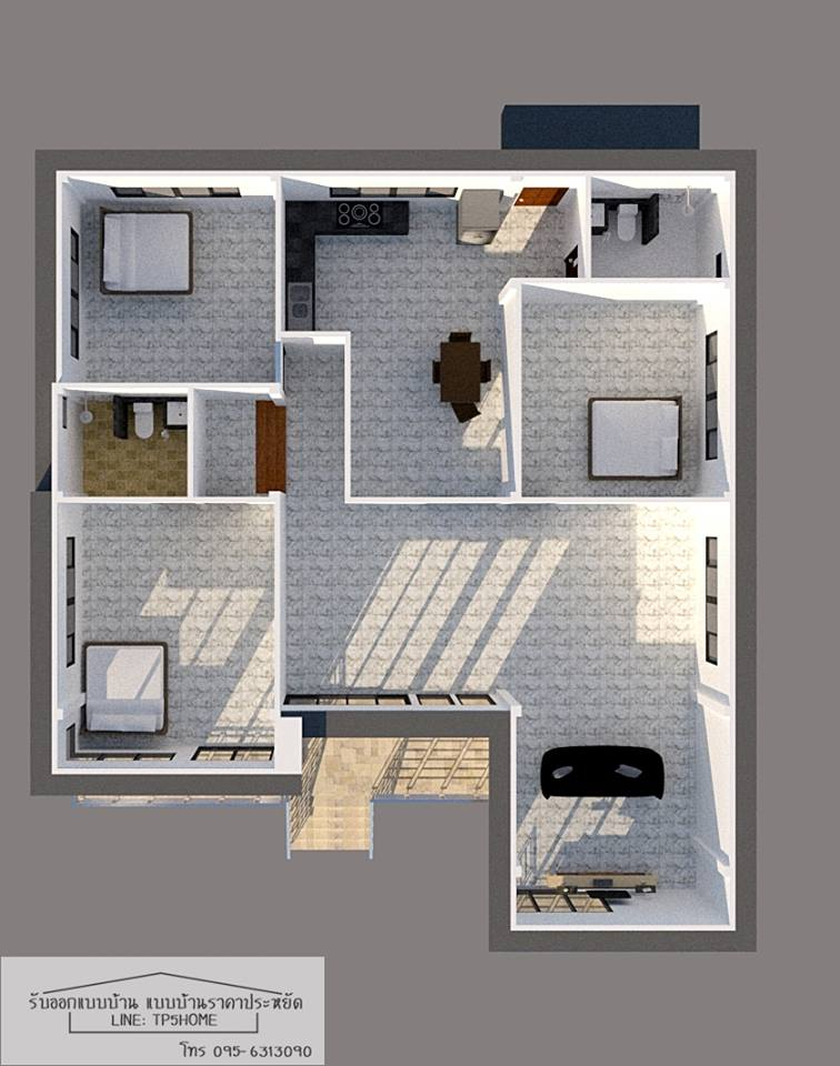 House Design No. 1  An L-shaped modern house with three bedrooms. Each room has its own bathrooms for comfort and convenience. If you noticed this house is elevated which is perfect on a location that is always battered with rains and storms! The total floor area of this house is 80 square meters while the balcony is 36 square meters. The budget estimate is between $27,000 to $35,000!  House Design No. 2  Another modern L-shaped on the list with three-bedrooms but comes with only two bathrooms! Its large glass doors and windows give the house a nice charming appearance. The floor area of this house is 96 square meters while the balcony is 30 square meters!   Building this house will cost you between $32,000 to $41,000! And that budget does not include the construction of the swimming pool.   House Design No. 3   This one is a simple three-bedroom home with one bathroom. It has a total floor area of 130 square meters and it has a garage that can accommodate a single car! The garage can be multi-purpose also! It can be used as an outdoor deck aside from its small terrace! The construction budget for this house is around $35,000!  House Design No. 4  This house looks small but yes, it has three-bedrooms perfect for your small family! You can build this house with or without a parking space! Considered to be an affordable house design for those who are looking for a three-bedroom home with two bathrooms! Estimated construction cost for this house is $35, 000!   House Design No. 5  Another elevated L-shaped modern house with three bedrooms and one bathroom. Its small terrace is a perfect place to relax and enjoy your surroundings if you have a large lot just like in this plan. If you notice the other two-bedroom has direct access to the balcony which is so perfect!  It is also your option to build a poll next to your balcony.  Estimated cost for building this house is around $23,000!  House Design No. 6  A small contemporary house with three bedrooms. This house design i