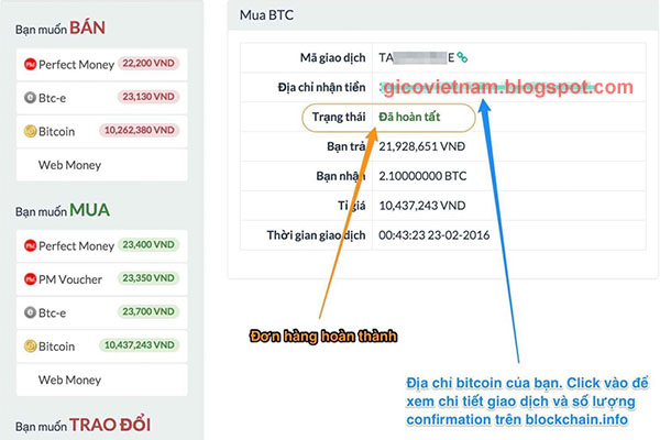 Hướng dẫn mua Bitcoin trênSantienao.com