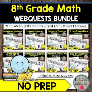 8th Grade Math Webquests