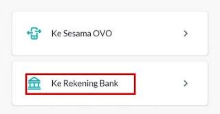 Transfer Dana ke Rekening Bank