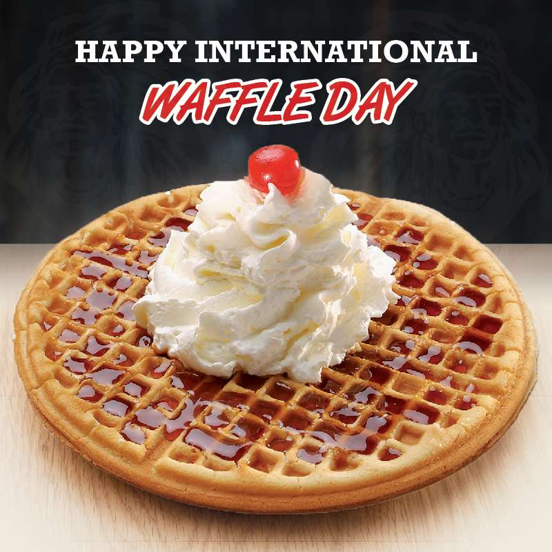 International Waffle Day Wishes Awesome Picture