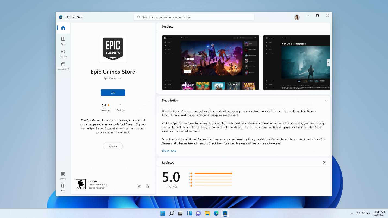 Amazon, Epic Games, App e Browser terzi | Potete scaricare tutto dal Microsoft Store di Windows 11