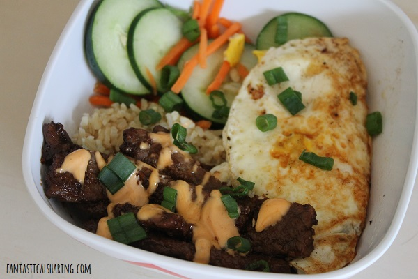 Korean BBQ Steak Bowls #recipe #steak #beef #koreanbbq #rice #sriracha