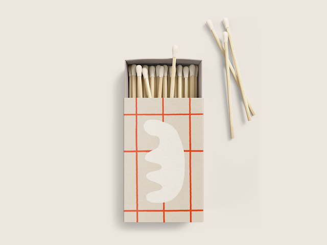 collateral grid matchbox matches mockup packaging red restaurant