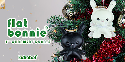 "Angel Holiday Dunny 5"" Plush Ornaments by Flat Bonnie x Kidrobot"