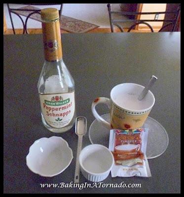 White Chocolate Peppermint Cake | recipe developed by www.BakingInATornado.com | #recipe #dessert