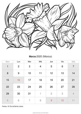 Calendario febrero 2020 de rosas de méxico