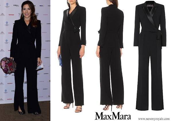 Crown Princess Mary wore Max Mara Dover Tuxedo Jumpsuit