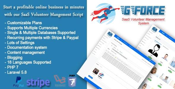 Download GForce v1.0 - SaaS Volunter Management System