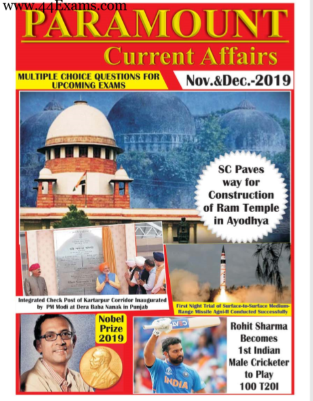 Paramount-Samsamayiki-Current-Affairs-November-and-December-2019-For-All-Competitive-Exam-PDF-Book