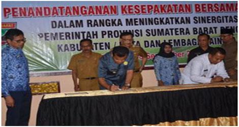 Kota Pariaman Teken Mou Dengan Gubernur Sumatera Barat.