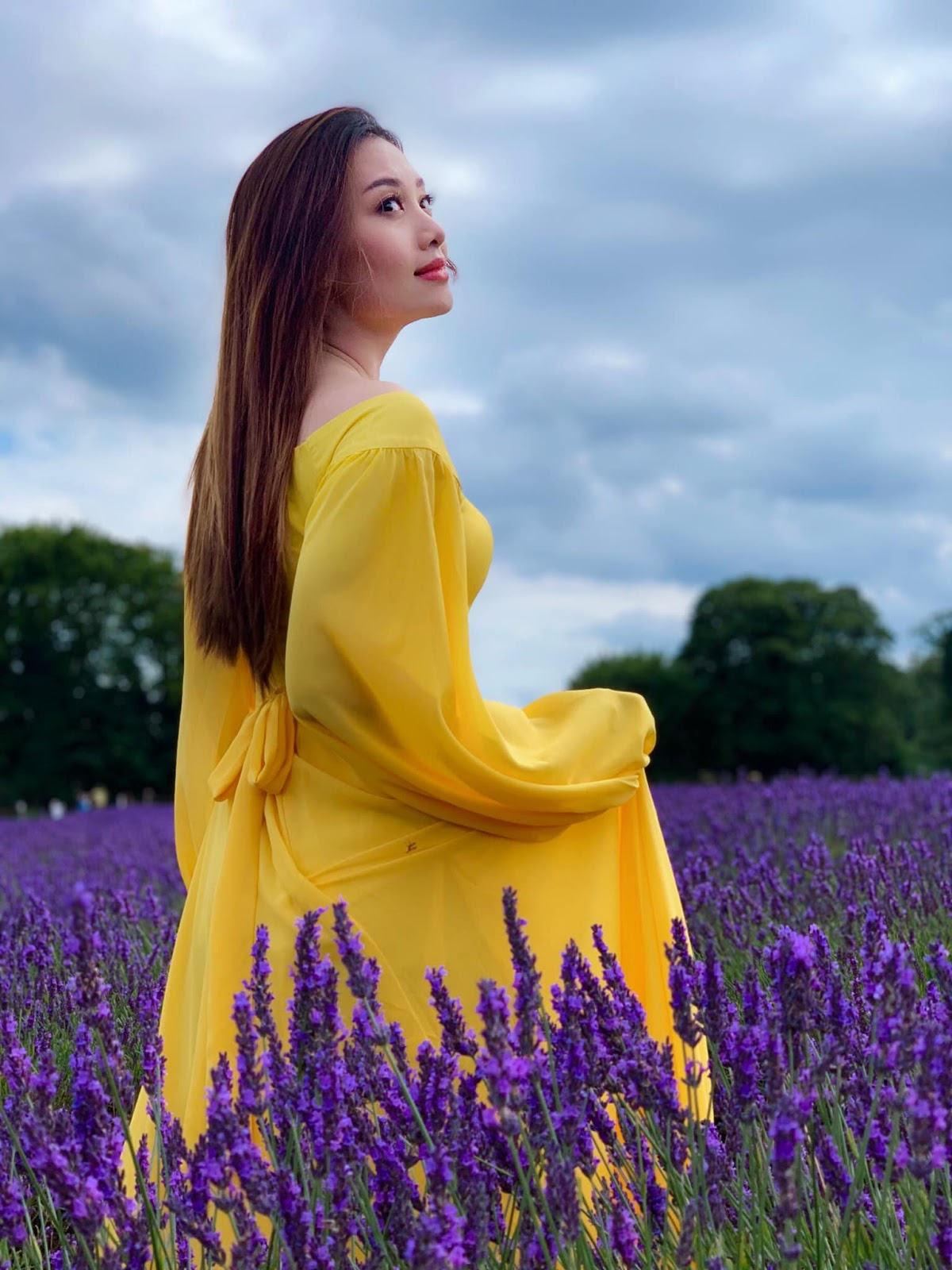 Yu Thandar Tin in Mayfields Lavender Fields