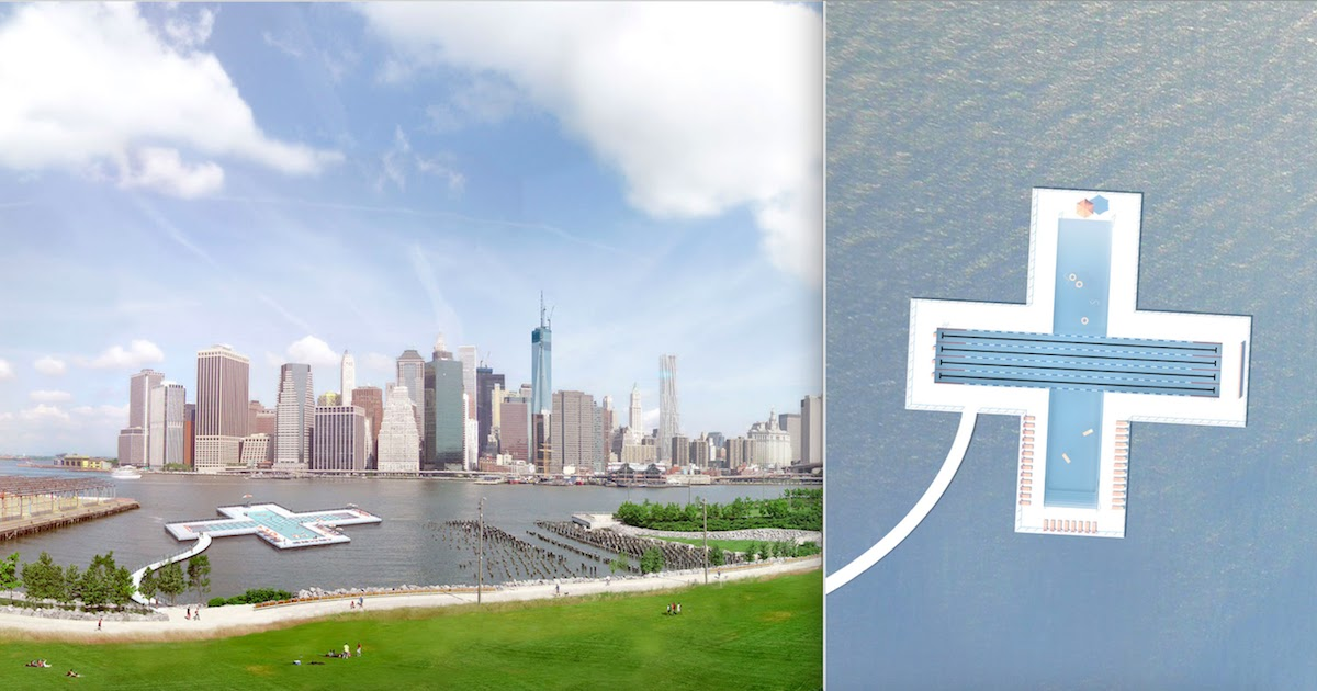 Floating Swimming Pool In New York Cleans Up To 600,000 Gallons Of Polluted Water A Day