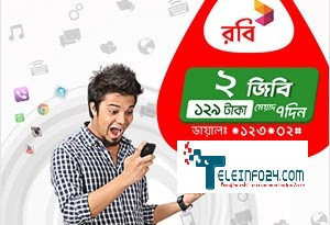 Robi New delight packs 2GB internet 129Tk