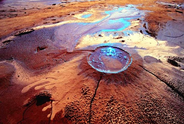 Hundreds of strange mud volcanoes erupt in the country located between Eurasia