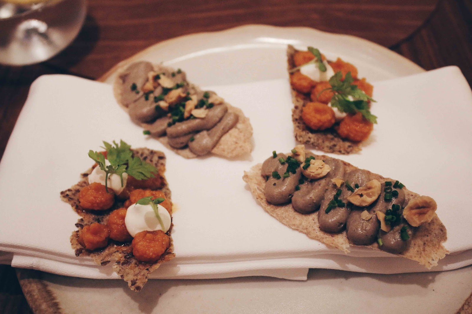 photo of starters at Intersect by Lexus