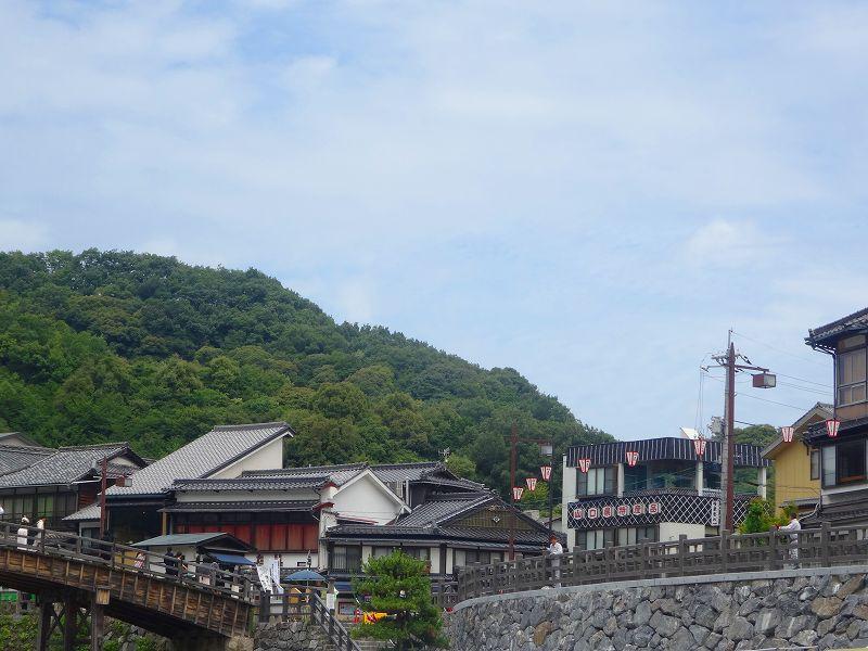 錦帯橋周りの風景。