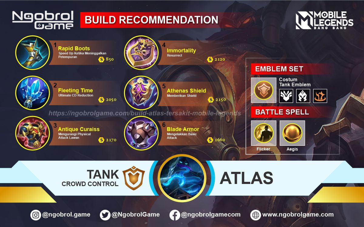 Build Atlas Savage Mobile Legends