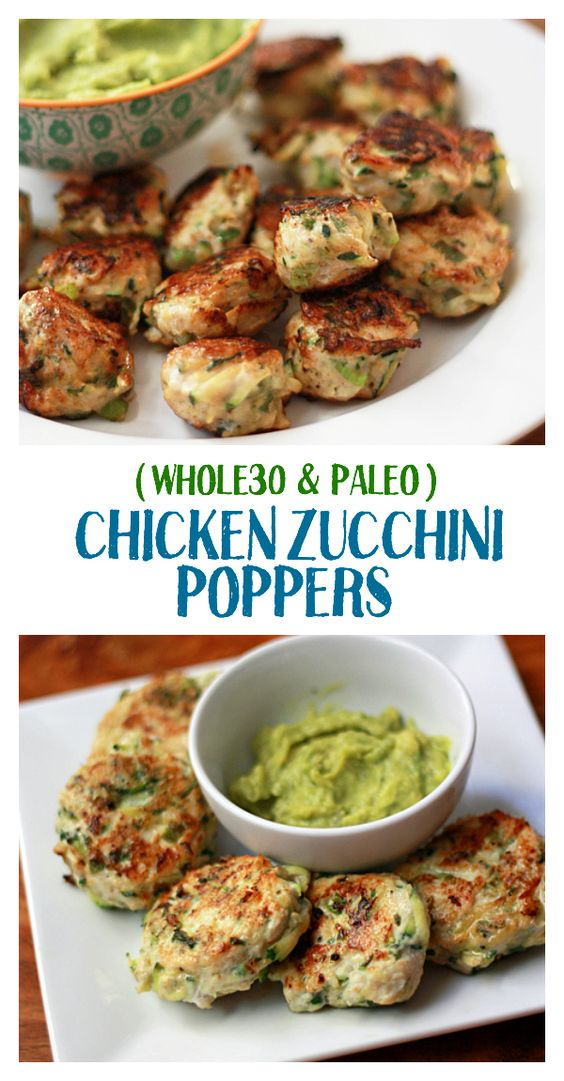 CHICKEN ZUCCHINI POPPERS (PALEO & WHOLE30 APPROVED!) #chicken #chickenrecipes #zucchini #poppers #paleo #healthyfood #healthysnack #healthysnackideas