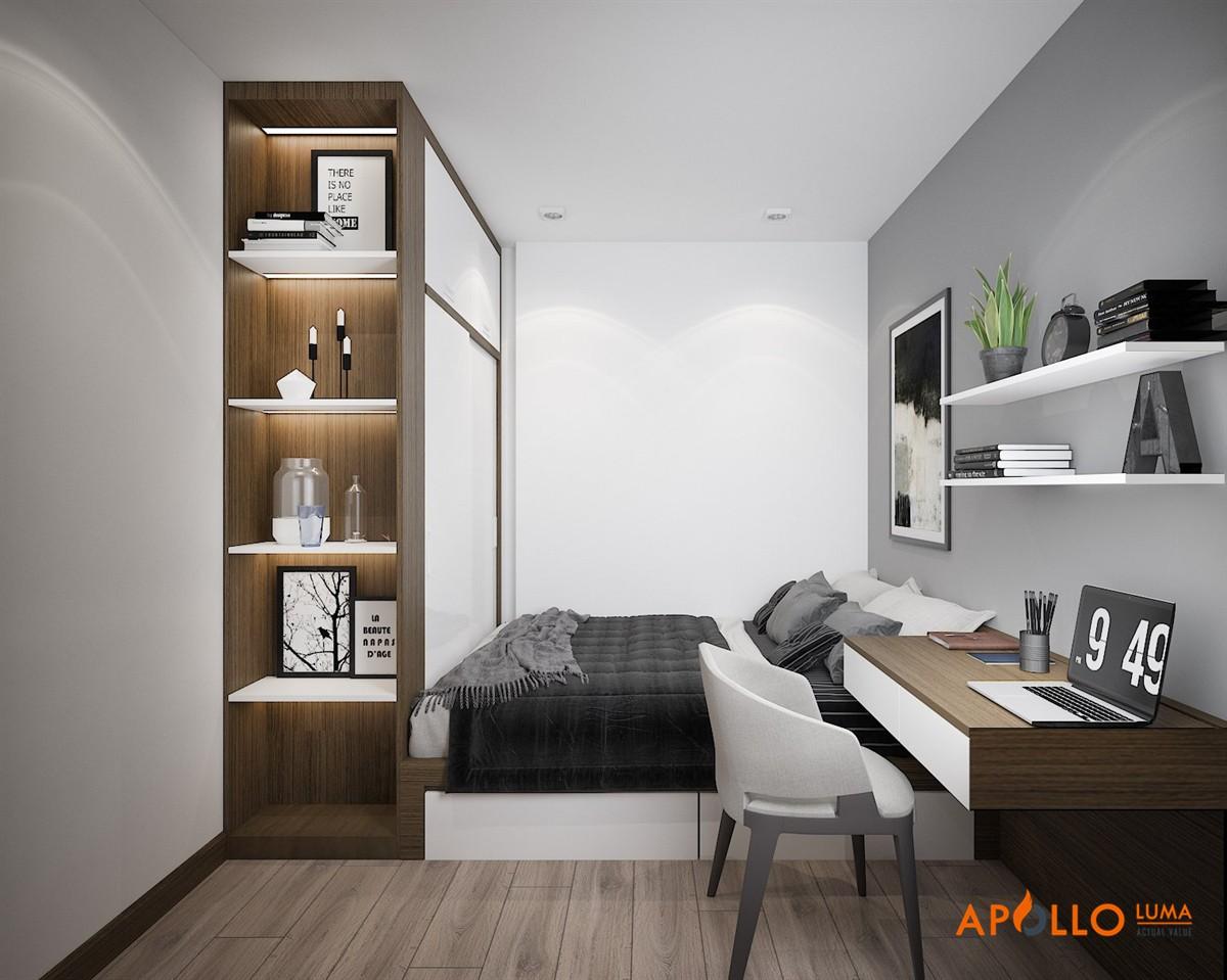 Thiết kế nội thất căn hộ 2PN+1 Vinhomes Grand Park Quận 9
